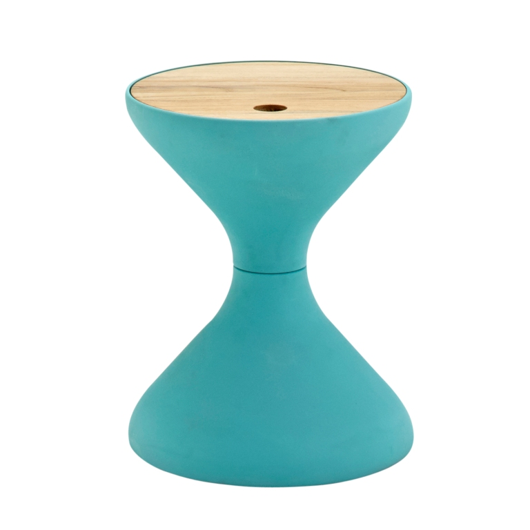 Bells Sidetable by Gloster in blue