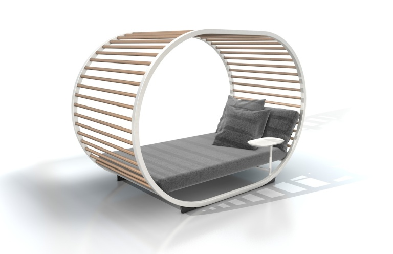 Cradle Day Bed colour combo White by Gloster at Marlanteak