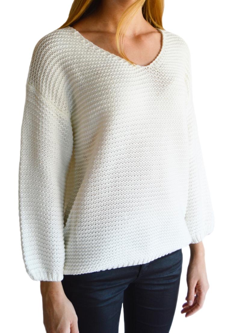 Chunky knit jersey - Cream