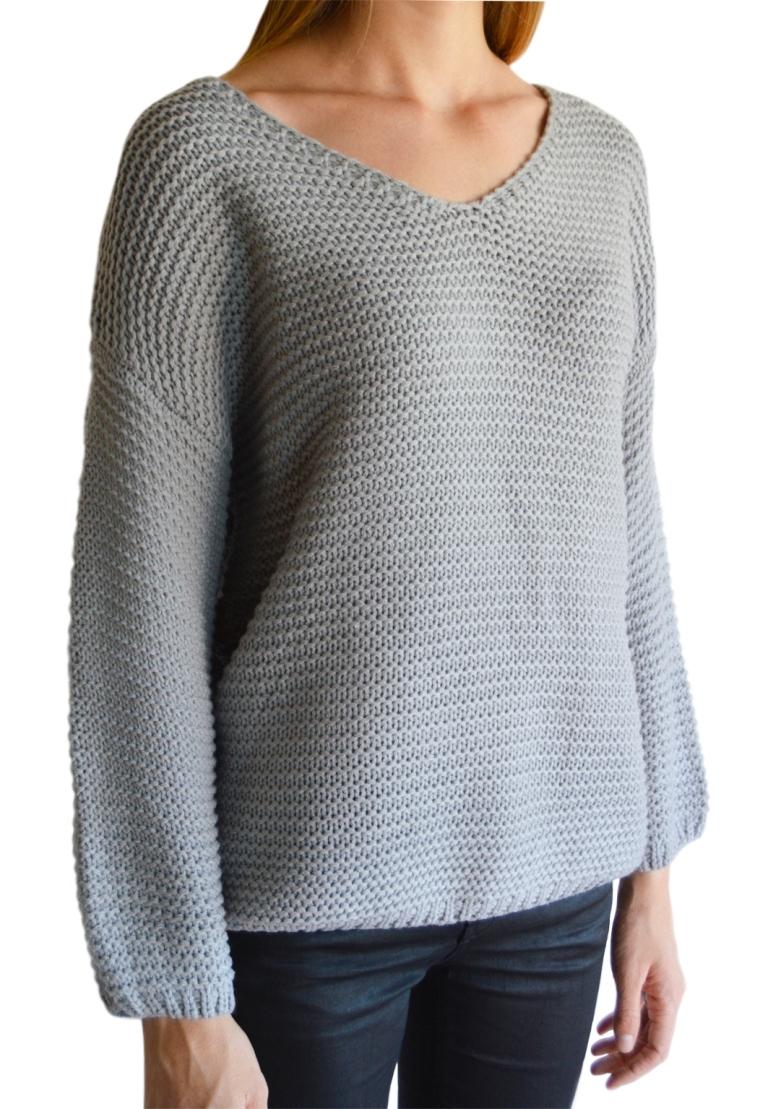 Chunky knit jersey - Grey