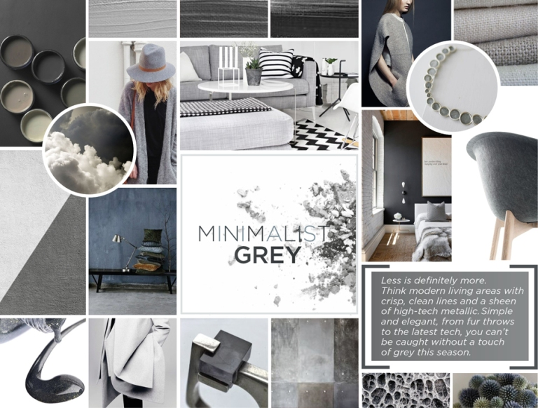 Ecommerce Winter Campaign Minimalist Grey moodboard