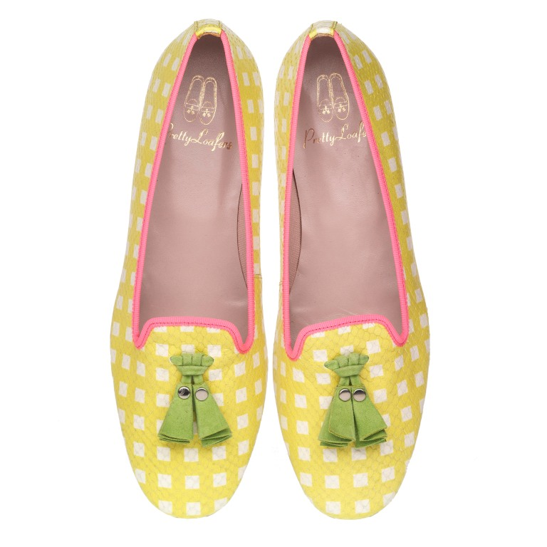 Faye beach picnic yellow green and fuchsia - pair