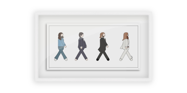 Beatles Abbey Road - Persona Art Project (Ant Vervoort Hand Drawing)