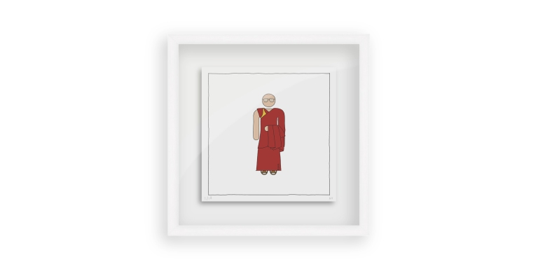 Dalai Lama - Persona Art Project (Ant Vervoort Hand Drawing)