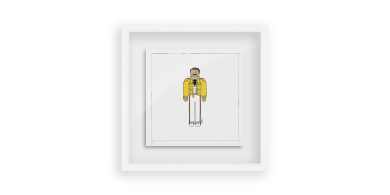 Freddie Mercury in Yellow - Persona Art Project (Ant Vervoort Hand Drawing)