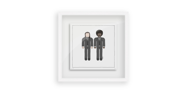 Pulp Fiction Vincent Vega and Jules Winnfield - Persona Art Project (Ant Vervoort Hand Drawing)