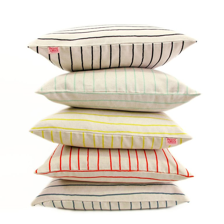 Simple-stripe-cushion-pile