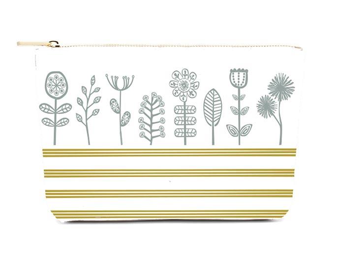 Lulu-Designs-Designer-Pouch-Susan-Caras-Grey-Flowers