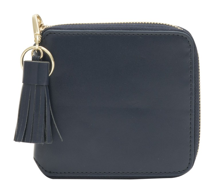 Hannah Smooth Leather Purse Blueberry