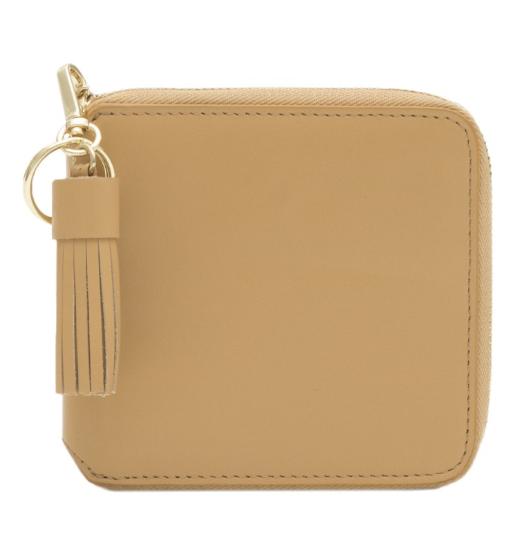 Hannah Smooth Leather Purse Butterscotch