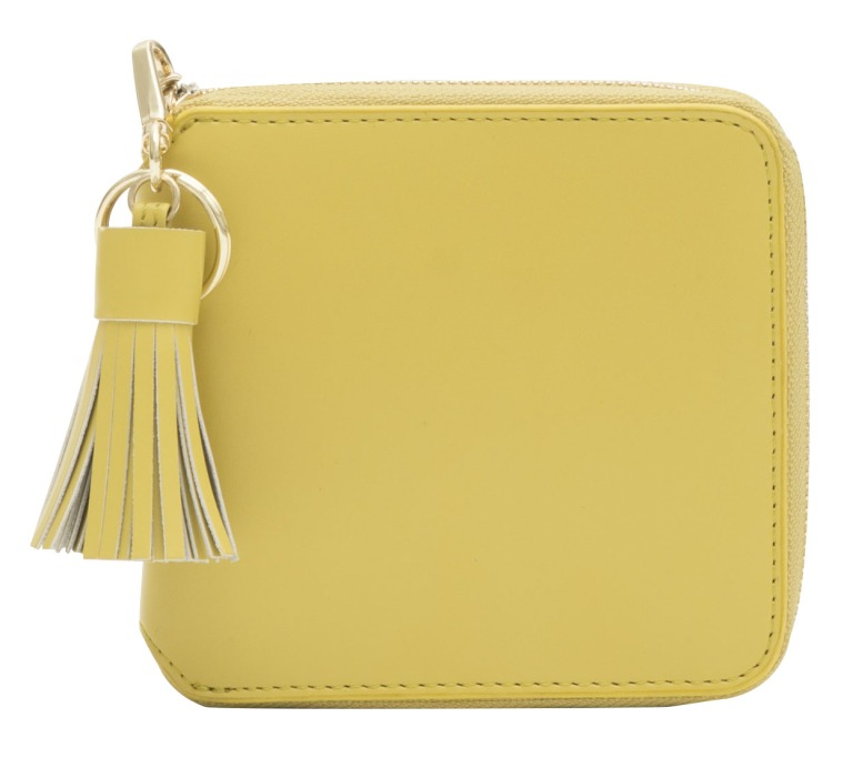 Hannah Smooth Leather Purse Lemon Drop