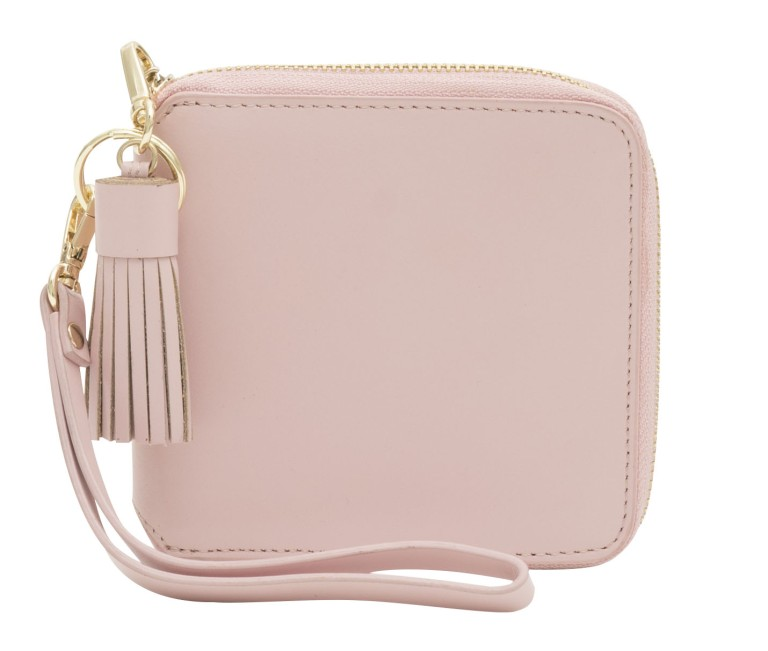 Hannah Smooth Leather Purse Pink Sherbet 2